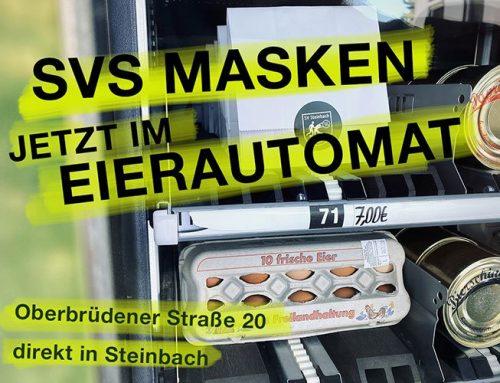 """SVS Masken im """"Heller´s Eierautomat"""" erhältlich"""