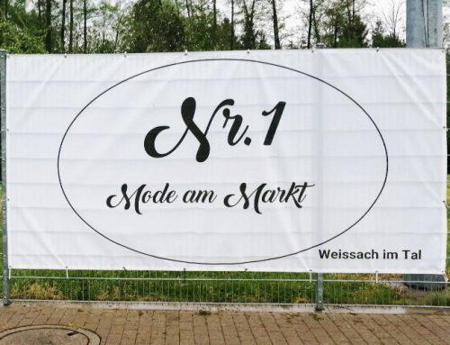 Nr. 1 Mode am Markt – jetzt auch mit Zaunbanner am Sportplatz vertreten
