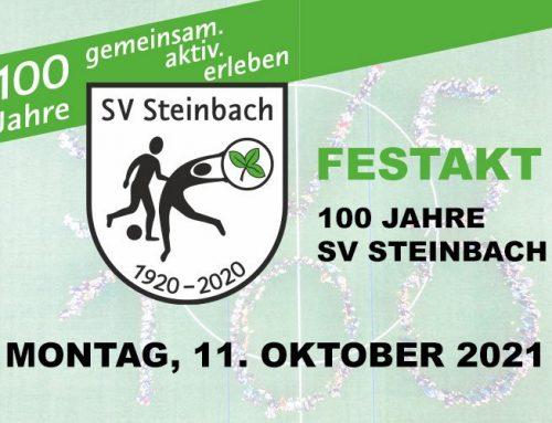 100 Jahre SV Steinbach – Der Festakt am Montag, 11. Oktober 2021